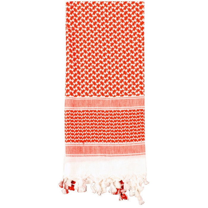 Red White - Lightweight Tactical Desert Shemagh Scarf