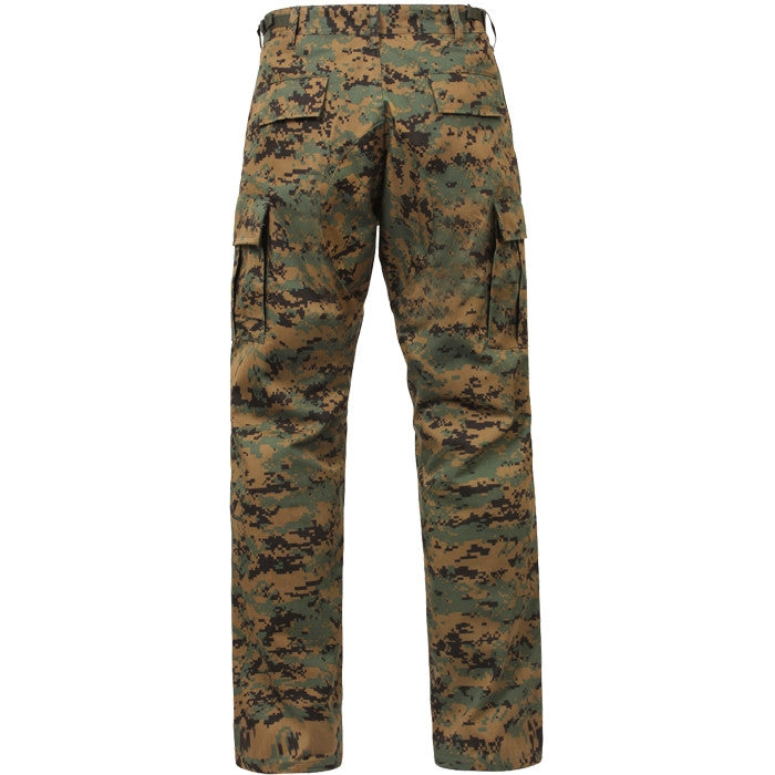 Digital Woodland Camouflage - Military BDU Pants - Cotton Polyester Twill