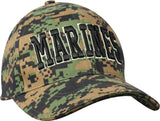 Digital Woodland Camouflage MARINES Military Low Profile Adjustable Baseball Cap