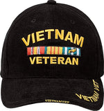 Black - VIETNAM VETERAN Low Profile Deluxe Adjustable Cap