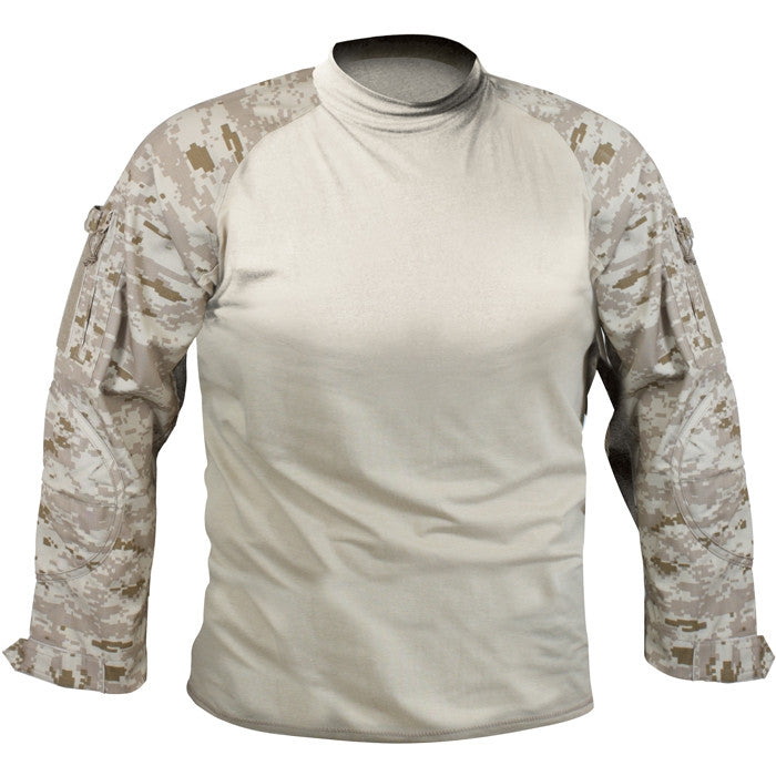 Digital Desert Camouflage - Military Tactical Lightweight Flame Resistant Combat Shirt