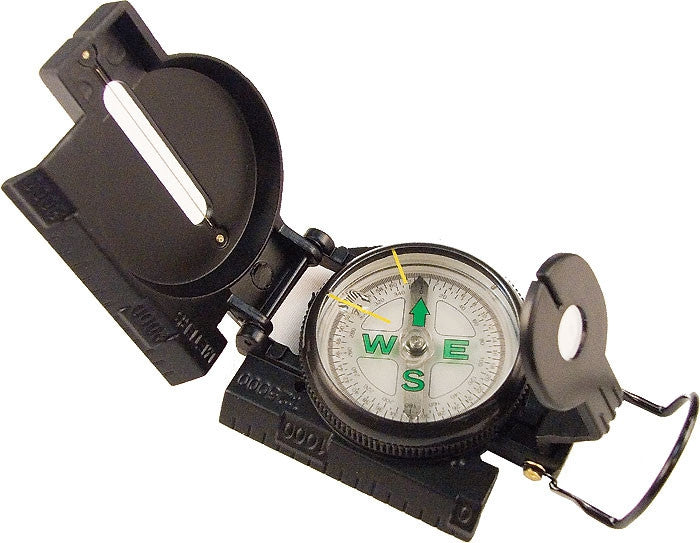 Black - Military GI Style Marching Lensatic Compass