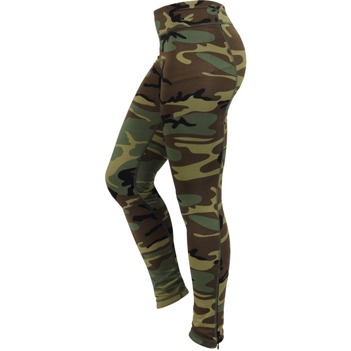Woodland Camouflage - Womens Performance Leggings