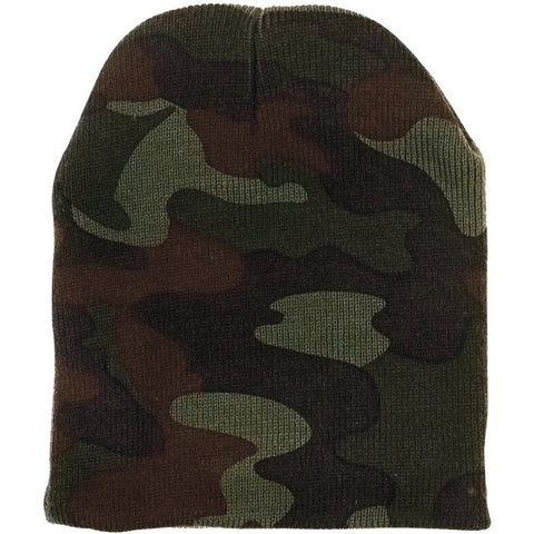 00761e55c7933 Woodland Camouflage - Military Deluxe Skull Cap - Acrylic - Army Navy Store