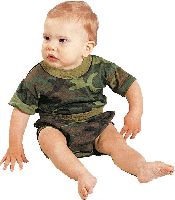 Woodland Camouflage - Military Infant T-Shirt