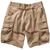 Tri-Color Desert Camouflage - Military Vintage Paratrooper Cargo Shorts