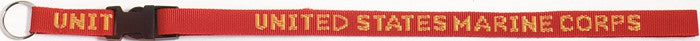 Red - UNITED STATES MARINE CORPS Neck Strap with Key Ring