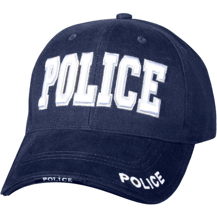 Navy Blue - Law Enforcement Deluxe POLICE Adjustable Cap