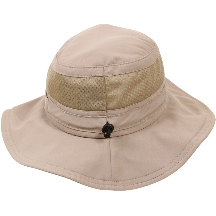 Khaki - Lightweight Adjustable Mesh Boonie Hat