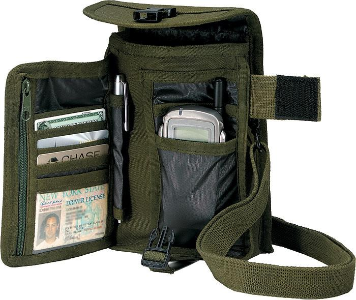 Olive Drab - Tactical Canvas Travel Portfolio Shoulder Bag