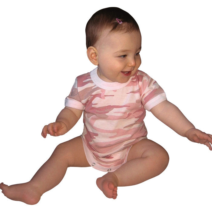Baby Pink Camouflage - Military Style Onesie