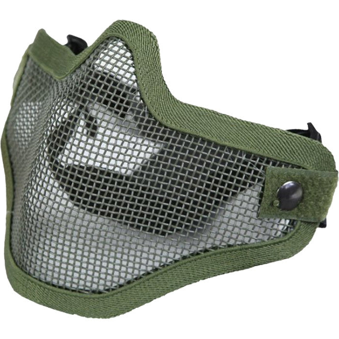 Bravo TacGear Olive Drab - Tactical Lightweight Strike Steel Half Mask