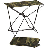 Woodland Camouflage - Military Style Outdoor Folding Camp Stool