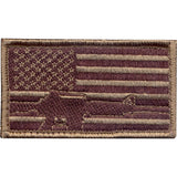 Subdued - US Flag Rifle Patch with Hook Back
