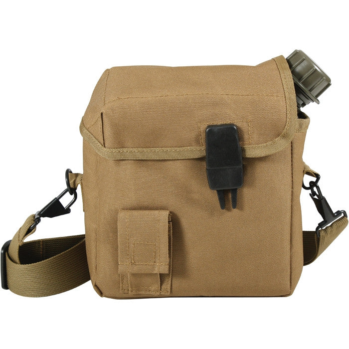 Coyote Brown - MOLLE 2 Quart Bladder Canteen Cover