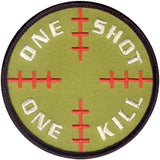 One Shot One Kill Sniper Patch with Hook Back