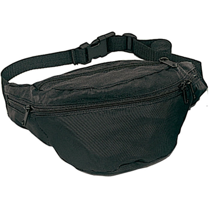Black - Army 4-Pocket Fanny Pack - Polyester