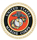 US MARINE CORPS Decal with USMC Embelm