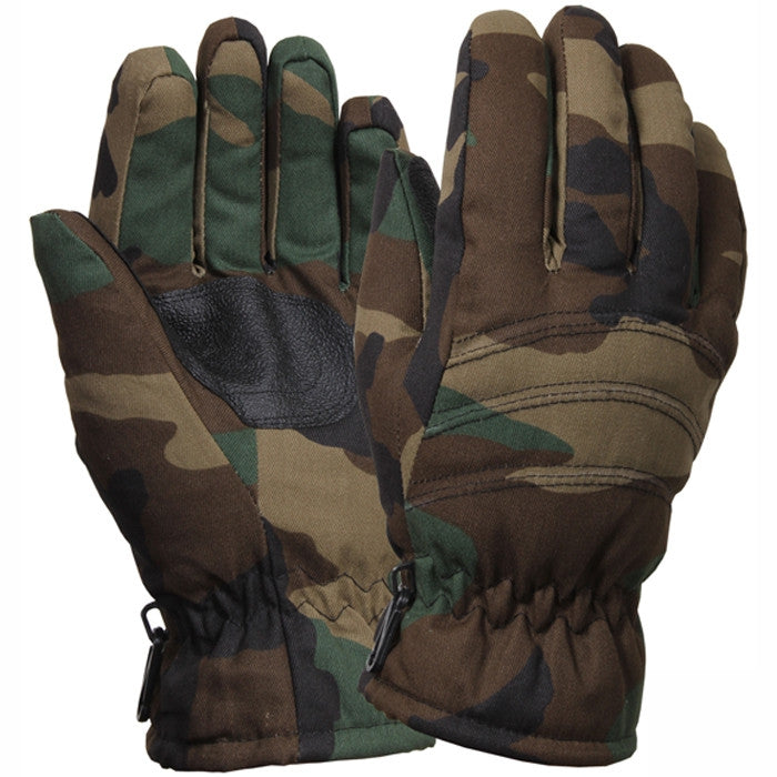 Woodland Camouflage - Outdoor Insulated Hunting Gloves