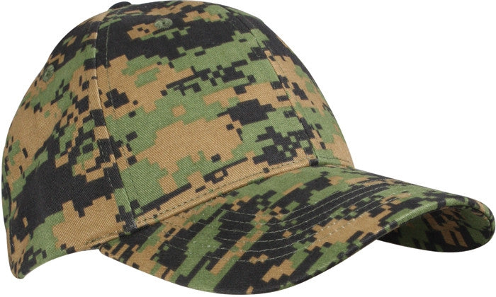 Digital Woodland Camouflage - Military Low Profile Adjustabe Baseball Cap