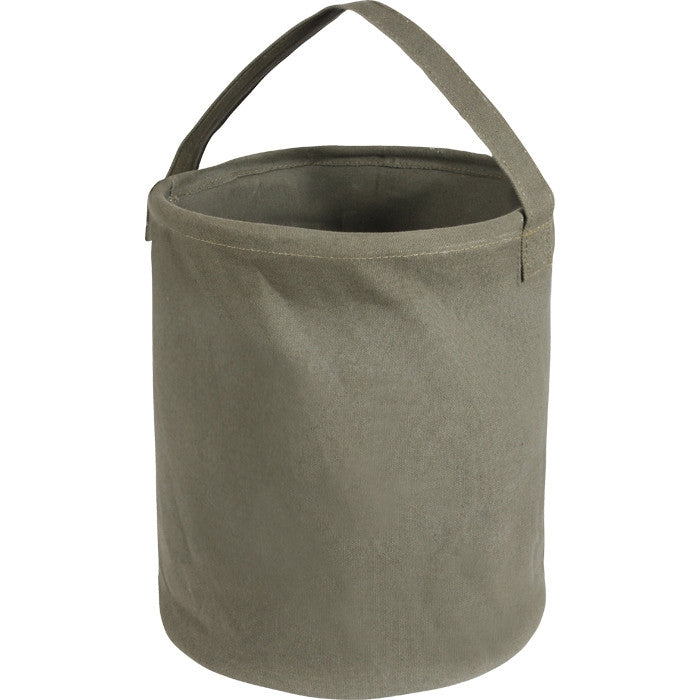 Olive Drab - Natural Canvas Water Bucket 13 in. x 11 in.