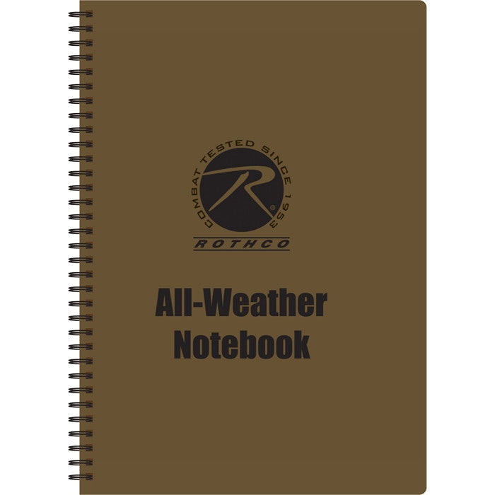 Coyote Brown - All Weather Waterproof Note Pad (8.5 in. X 11 in.)