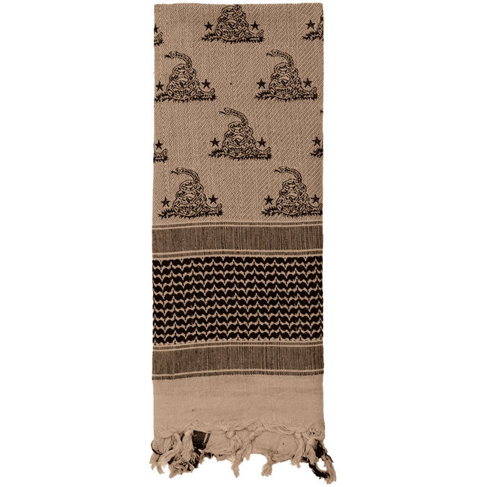 Tan - Snake Shemagh Tactical Desert Scarf