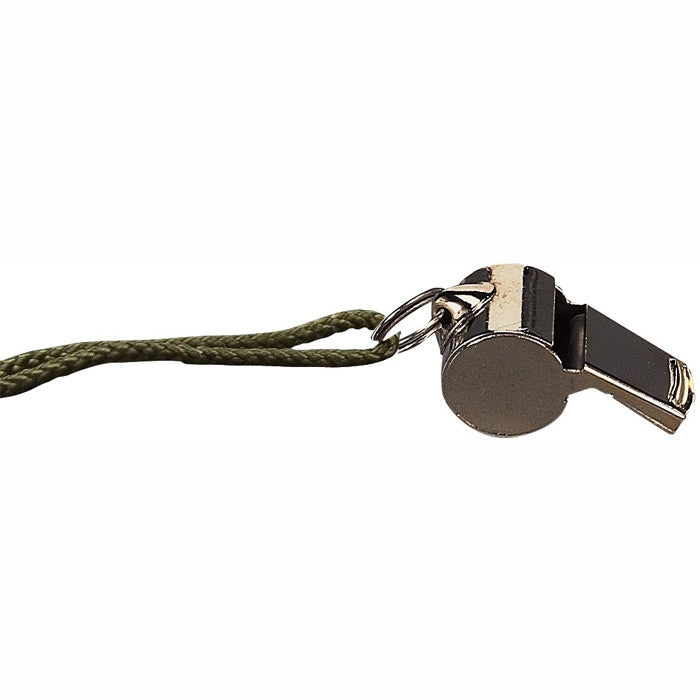 Silver - Law Enforcement GI Style Police Whistle