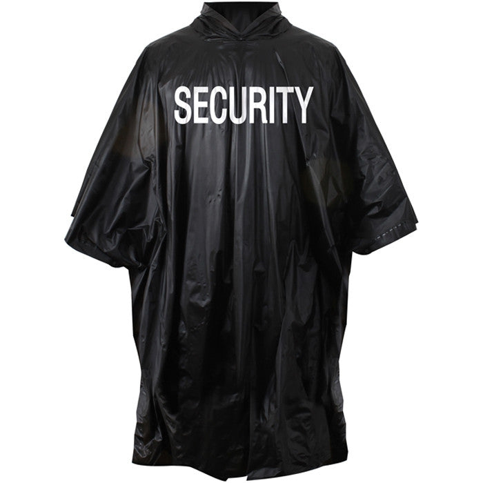 Tactical Security Poncho Black