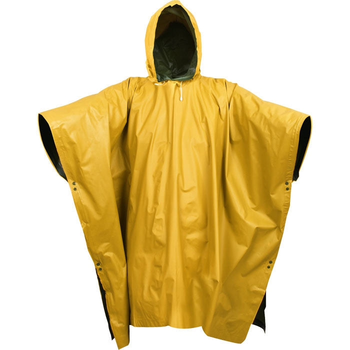 Olive Drab To Yellow - PVC Reversible Poncho