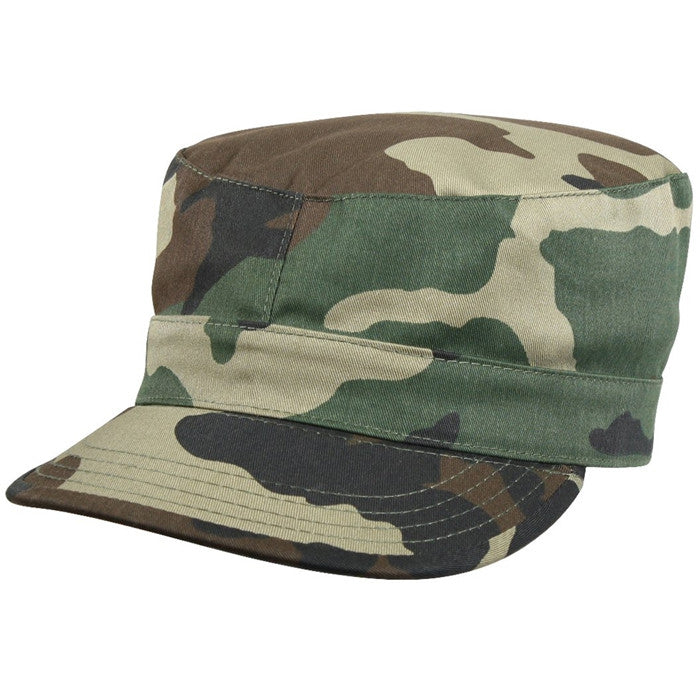Woodland Camouflage - Military Fatigue Cap - Polyester Cotton