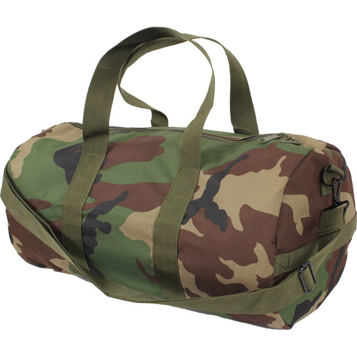 Woodland Camouflage - Military Heavy Duty Medium Shoulder Bag