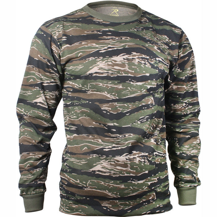 Tiger Stripe Camouflage - Military Long Sleeve T-Shirt