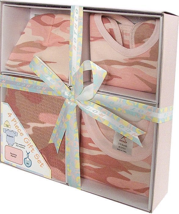 Baby Pink Camouflage - Military Style Infant Gift Set