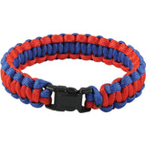 Red   Blue - Cobra Weave Paracord Bracelet