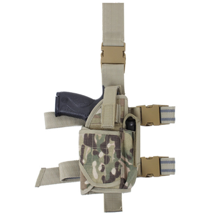 Multicam Camouflage - Deluxe Adjustable Drop Leg Tactical Holster