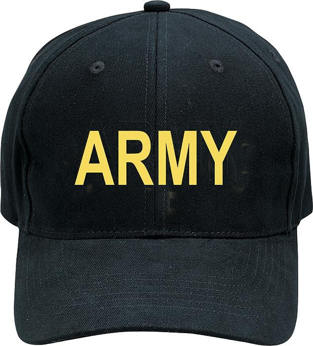 Black - ARMY Adjustable Cap