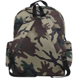 Woodland Camouflage - Water Resistant Deluxe Travel Day Pack - Nylon