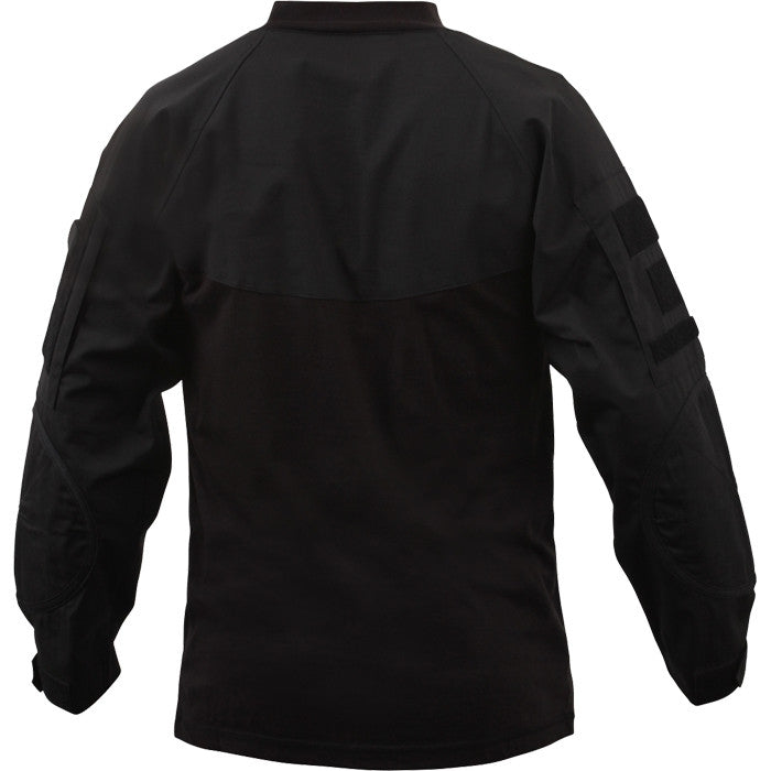 Black - Military Tactical Lightweight Flame Resistant Combat Shirt