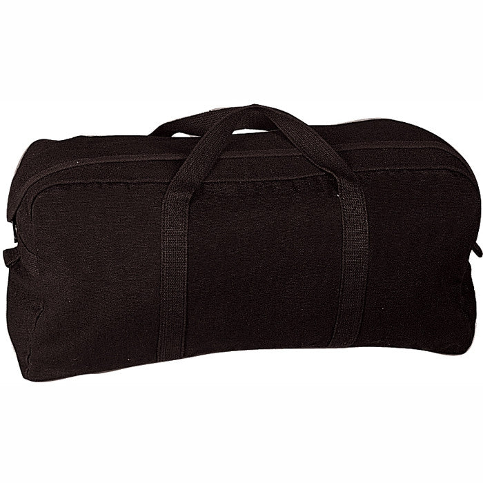 Black - Military GI Style Tanker Tool Bag - Cotton Canvas