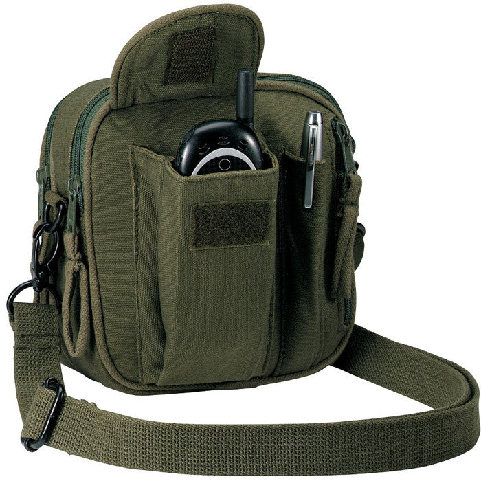 Olive Drab - Military Excursion Organizer Shoulder Bag