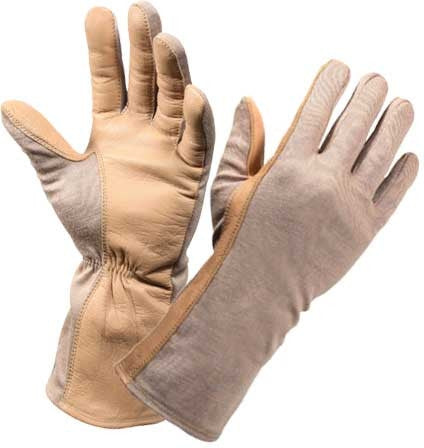 Sand - Military Flame and Heat Resistant Tactical Flight Gloves