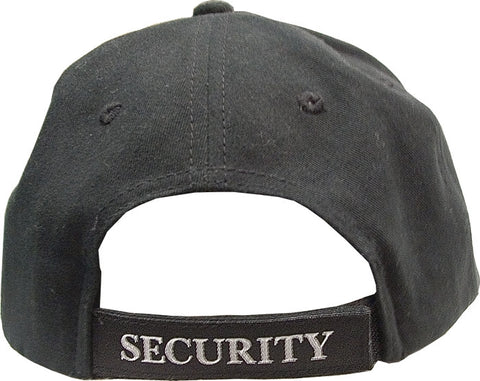 BLACK Security Hat Deluxe Low Profile Adjustable Cap 9382
