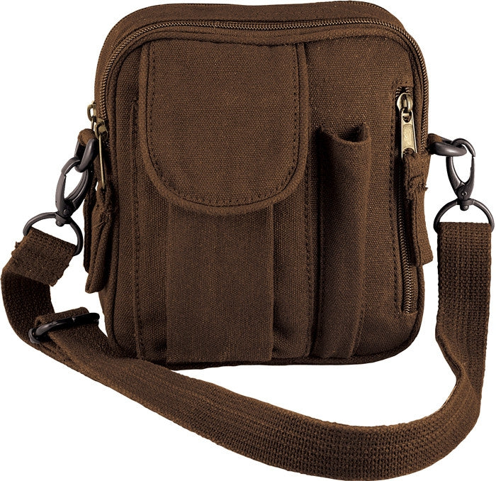 Earth Brown - Military Excursion Organizer Shoulder Bag