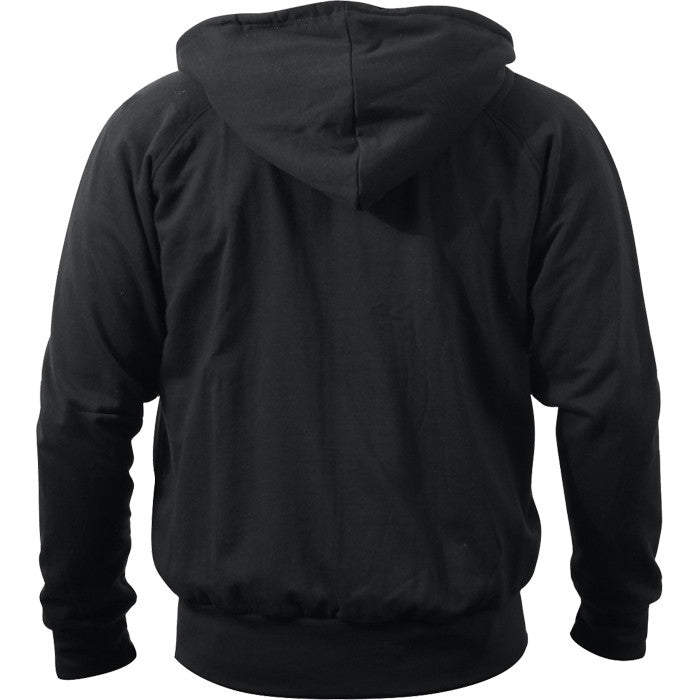 Black - Thermal-Lined Zipper Hooded Sweatshirt