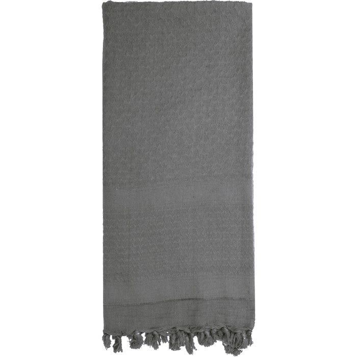 Grey - Solid Color Shemagh Tactical Desert Scarf