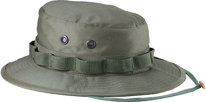 Olive Drab - Military Boonie Hat - Polyester Cotton