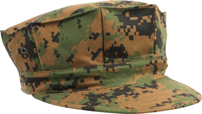 Digital Woodland Camouflage - US Marine Corps Fatigue Cap Utility Cover 8 Pointed Cap
