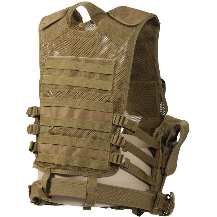 Coyote Brown - MOLLE Compatible Cross Draw Tactical Vest