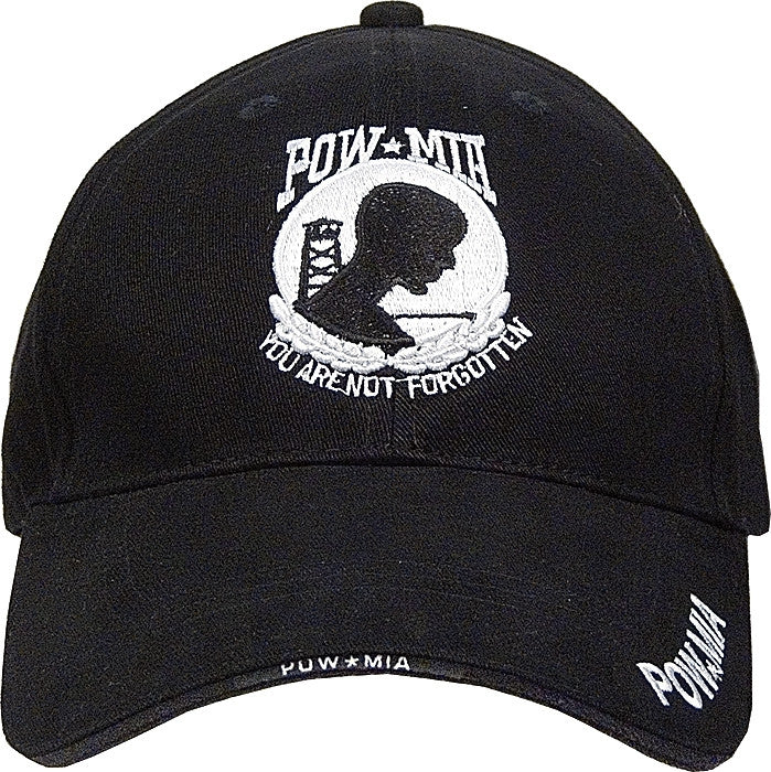 Black - POW MIA Deluxe Adjustable Cap